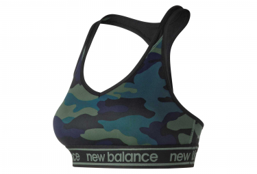 New Balance Sujetador NB Pace Estampado Verde Camo Mujer