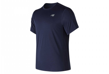 Maillot manches courtes new balance accelerate v2 bleu homme l