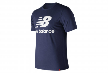 New Balance manga corta camiseta NB Essentials Logo Azul Hombres