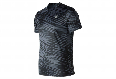 New Balance Short Sleeves Jersey Print Accelerate V2 Black Men
