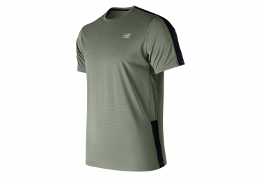 Maillot manches courtes new balance accelerate v2 kaki homme l