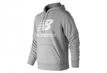 New Balance Hoodie NB Essentials Logo Grigio Uomo