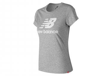T shirt manches courtes new balance nb essentials logo gris femme l