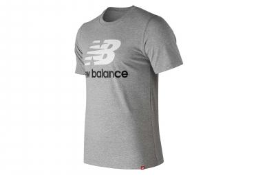 New Balance Short Sleeves Tee Shirt NB Essentials Logo Grey Men