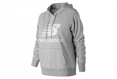 New Balance Hoodie NB Essentials Logo Grey Women