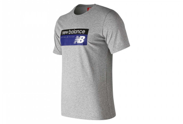 T shirt manches courtes new balance nb athletics banner gris homme s