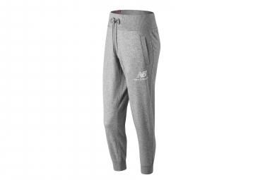 Pantalon jogging New Balance NB Essentials Logo Gris Femme