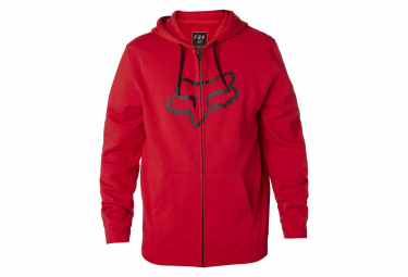 Fox Legacy Foxhead Zip Fleece Dark Red