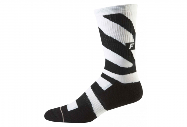 Fox 8 Trail Cushion Mid-High Sock Zebra