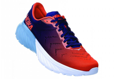 Hoka Running Shoes Mach 2 Orange Blue