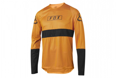 Fox Defend Manga Larga Jersey Naranja