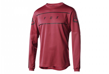 Fox Flexair Long Sleeves Fine Line Jersey Cardinal