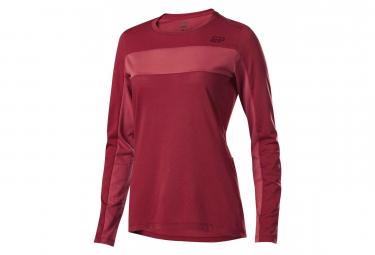 Fox Women Ranger Dri-Release Long Sleeves Jersey Bordeaux