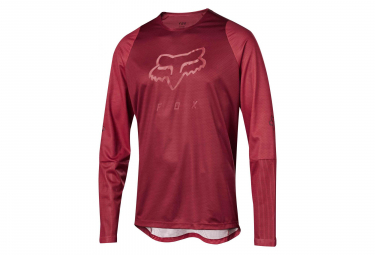 Fox Defend Long Sleeves Foxhead Jersey Cardinal