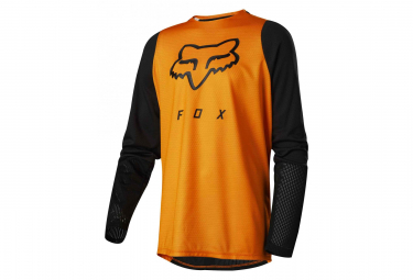 Fox Youth Defend Long Sleeves Jersey Orange