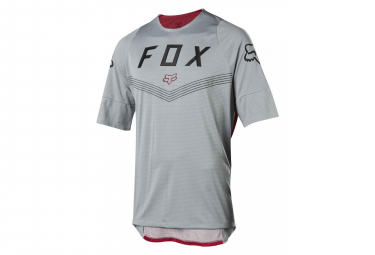Fox Defend Short Sleevers - Fine Line-Trikot Grau