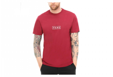 T-Shirt Manches Courtes Vans Easy Box Rumba Rouge
