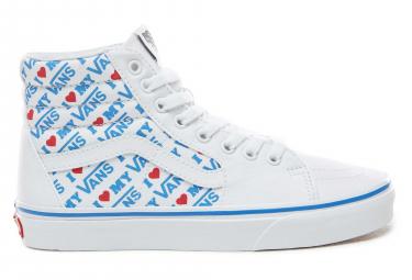 Chaussures Vans UA Sk8-Hi I Heart Blanc / Bleu
