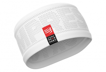 Image of Bandeau tete compressport headband on off blanc unisex