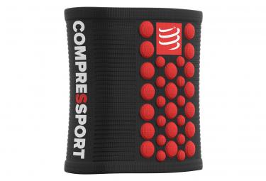 Bandeaux Poignet Compressport Sweatbands 3D.Dots (Paire) Noir Rouge