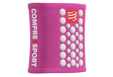 Compressport 3D.Dots Sweatbands Pink White