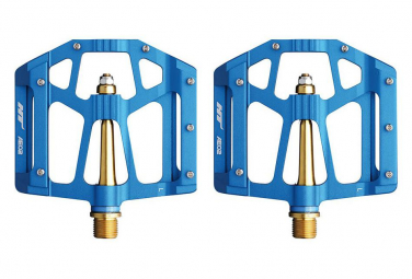 Pédales Plates HT AE02 Titane Bleu
