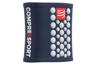 Bandeaux Poignet Compressport Sweatbands 3D.Dots (Paire) Bleu Blanc