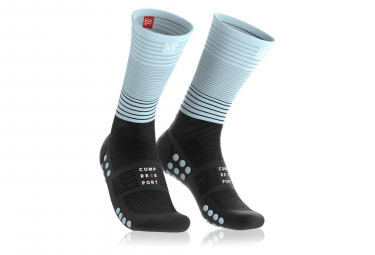 Compressport Mid Compression Socks Black Blue Unisex