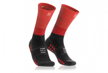 Compressport Mid Compression Socks Noir Rouge Unisex