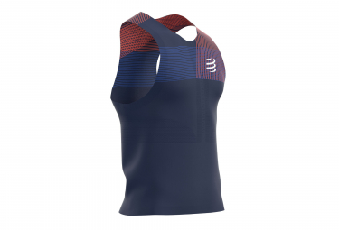 Débardeur Compressport Proracing Bleu Rouge Homme