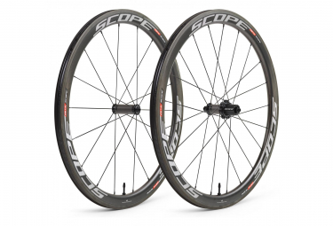Paire de Roues Scope R4C Carbon 45 mm (Largeur 26 mm) | 9x100 - 9x130mm | Corps Shimano/Sram