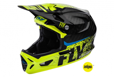 Casco Integral Fly Racing Werx Mips Noir / Jaune / Fluo