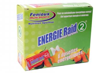 Energy Gels Fenioux Energie Raid 2 Citrus Fruits 6x27g