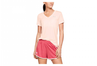 Manga Corta Under Armour Twist Tech Mujer Jersey Rosa