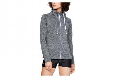 Under Armour Tech Twist Women Full Zip Long Sleeves Jersey Grey Black