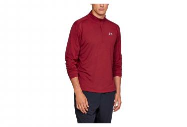 Under Armour Streaker Half Zip Long Sleeves Jersey Red