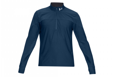 Under Armour Qualifier Half Zip Long Sleeves Jersey Navy Blue