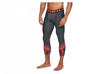Collant 3/4 de Compression Under Armour HeatGear Armour Gris Orange