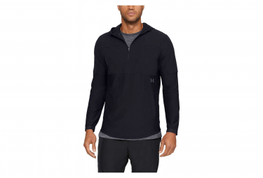 Under Armour Vanish Hybrid Half Zip Water Resistant Jacket Black