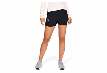 Short 2-en-1 Femme Under Armour Fly-By Mini Noir
