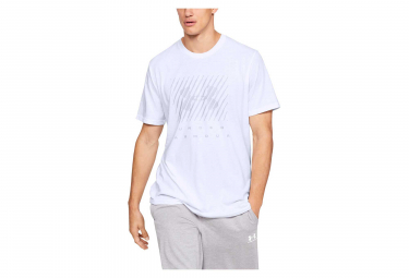 Maillot manches courtes under armour branded big logo blanc l