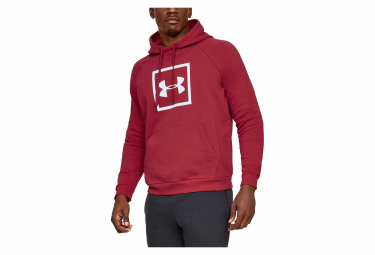 Under Armour Rival Fleece Logo Hoodie Sweat Red