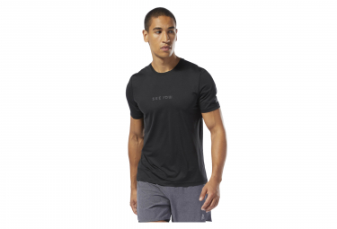 Maillot Manches Courtes Reebok One Series Running Elevated Noir