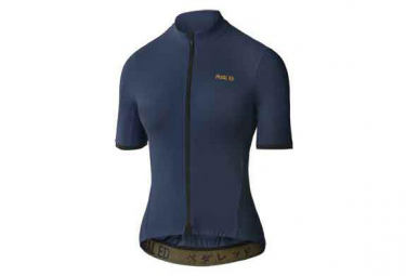 Image of Maillot manches courtes femme pedal ed kawa essential bleu marine l