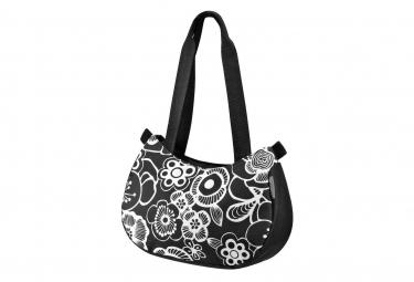 Klickfix Handbag ''STYLEBAG'' noir/fleur