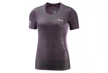 Salomon S/Lab Exo Women's Short Sleeves Purple