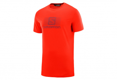 Salomon Blend Logo Short Sleeves T-Shirt Red