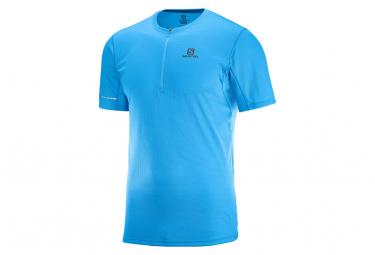 T-Shirt Manches Courtes Salomon Agile Bleu
