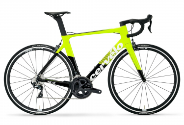 Cerv lo S3 Rim Bicicleta de carretera Shimano Ultegra 8000 11S Fluoro Black 2019