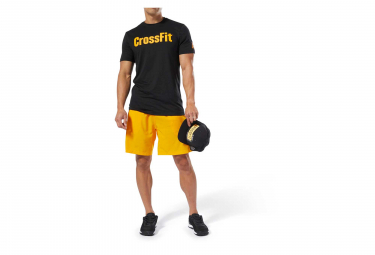 Reebok CrossFit SpeedWick F.E.F Short Sleeves Jersey Black Yellow